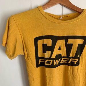 "Vintage 1960s ""Cat Power"" Caterpillar Baby T-shirt"